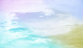 Abstract pastel cloudscape background Stock Photos