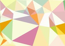 Abstract pastel color low poly bokeh wallpaper Royalty Free Stock Photos