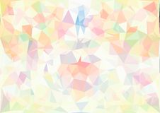 Abstract pastel color low poly bokeh wallpaper Stock Image