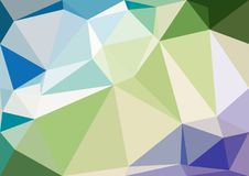 Abstract pastel color low poly bokeh wallpaper Stock Photos