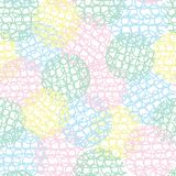 Abstract pastel colored doodle loops scribble spheres seamless repeat texture pattern background. Great for texturing, overlay, backgrounds, paper, scrap vector illustration