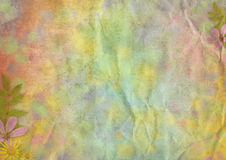 Abstract pastel-colored paper background. With the flowers for the design Stock Photography