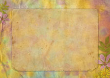 Abstract pastel-colored paper background. With the flowers for the design Royalty Free Stock Photo