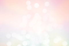 Abstract pastel defocused lights background. Twinkled bright bac Stock Images