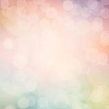 Abstract pastel defocused lights background. Twinkled bright bac Royalty Free Stock Photography