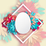 Abstract Pastel Greeting card - Happy Easter Day -  Spring Easter Egg. Stock Images
