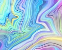Abstract pastel holographic background, fluid paint art, iridescent multicolor wallpaper, marbling texture, neon wavy lines royalty free stock photos