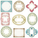 Abstract pastel labels set. Illustration Stock Images
