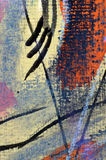 Abstract pastel painting. Closeup Macro detail of original pastel painting drawn by the Author in 1998 Royalty Free Stock Photo