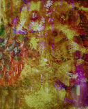 Abstract Pastel On Paper Stock Photo