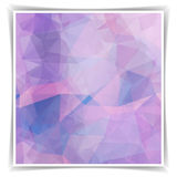 Abstract Pastel Pink Polygonal background Stock Photography