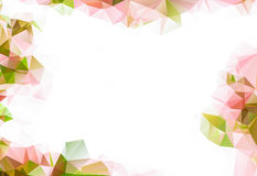 Abstract pastel pink triangular low poly style background. With space for your text Royalty Free Stock Photography