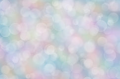 Abstract pastel rainbow background with boke Stock Photography