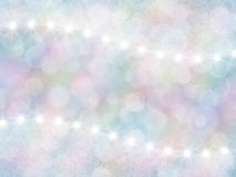 Abstract pastel rainbow background with boke and stars royalty free stock photography