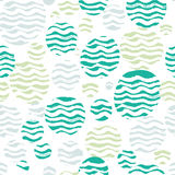 Abstract pastel seamless pattern with white wavy Stock Photography