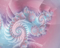 Abstract Pastel Spiral Stock Image