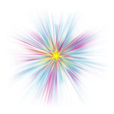 Abstract pastel starburst on white Stock Photo