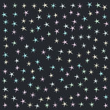 Abstract pastel stars background. Stock Photography
