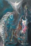 Abstract pastelkleur het schilderen art. Royalty-vrije Stock Foto's