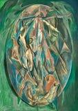 Abstract pastelkleur het schilderen art. Royalty-vrije Stock Afbeelding