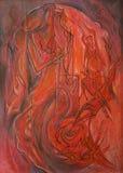 Abstract pastelkleur het schilderen art. royalty-vrije illustratie