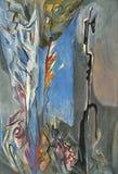 Abstract pastelkleur het schilderen art. Stock Afbeelding