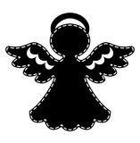 Abstract patchwork angel black. And white. Vector illustration vector illustration