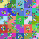 Abstract patchwork floral background,  illustration Royalty Free Stock Image