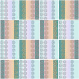 Abstract patchwork ornament seamless pattern Royalty Free Stock Photography