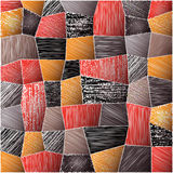 Abstract Patchwork Texture. Abstract Patchwork Background. Red, orange, black and gray Stock Photos