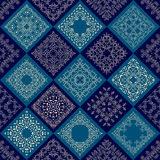 Abstract Patchwork tiles seamless background Royalty Free Stock Image