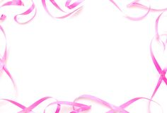 Abstract patel's ribbon frame. Abstracting with pink patel's ribbon frame Royalty Free Stock Photography