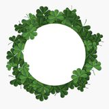 Abstract patrick day background with clover. Vector illustration Stock Photos