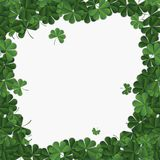 Abstract patrick day background with clover. Vector illustration Royalty Free Stock Photos