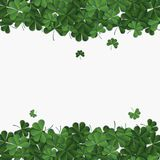 Abstract patrick day background with clover. Vector illustration Stock Images