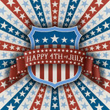Abstract patriotic background with shield Stock Photo