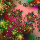 Abstract patroon Als achtergrond in de Kleuren van de Vakantie van Kerstmis Stock Afbeeldingen