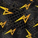 Abstract patroon als achtergrond met bliksemelementen Royalty-vrije Stock Fotografie