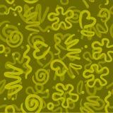 Abstract patroon als achtergrond met verschillende elementen Stock Afbeelding