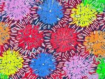 Abstract patroon als achtergrond op stof Royalty-vrije Stock Afbeeldingen