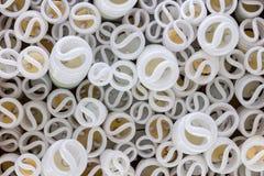 Abstract patroon als achtergrond van spiraalvormige gloeilampen Royalty-vrije Stock Foto's