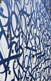 Abstract patroon Blauw en wit Royalty-vrije Stock Foto
