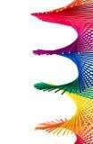 Abstract patroon dat door verdraaide windspinner wordt gecre?ërd Royalty-vrije Stock Afbeelding