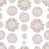 Abstract patroon De cirkelornament van de vuurwerkvlek royalty-vrije illustratie