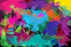 Abstract patroon die als achtergrond uit driehoeken bestaan roosterexemplaar vector illustratie