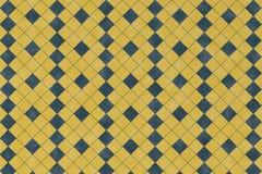 Abstract patroon met blauwe geometrische vierkante vorm Royalty-vrije Stock Foto