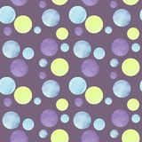 Abstract patroon met kleurrijke cirkels en violette achtergrond voor in ontwerpbehang, textiel, kaart royalty-vrije illustratie