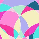 Abstract patroon met multi-colored delen Stock Illustratie