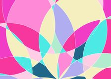 Abstract patroon met multi-colored delen Vector Illustratie