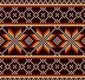 Abstract patroon met naadloze gebreide textuur Stock Afbeelding